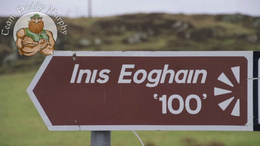 Sign Inis Eoghain '100'